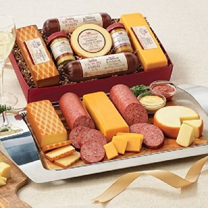 hickory farms sasuage with cheese