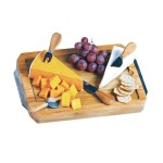 Portable Bamboo Cheese Board and Set for Travel