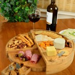 Round Cheese Board That Folds Up Nicely